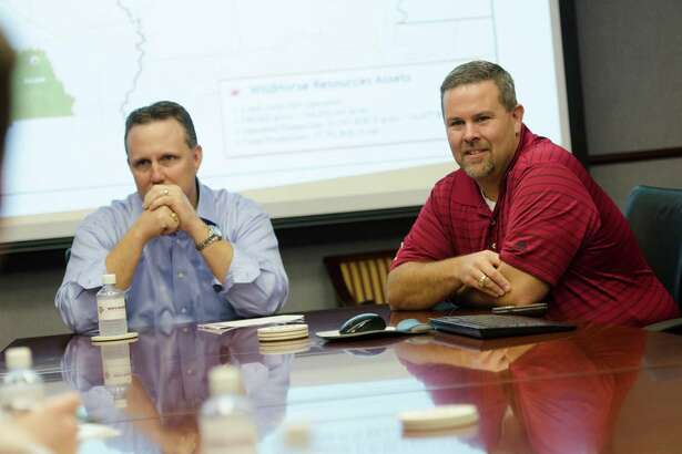 Anthony Bahr (left) and Jay Graham are the co-founders of the WildHorse Resources family of Houston-based exploration and production companies. The pair recently donated $12 million to Texas A&o start the Petroleum Ventures Program, an educational partnership between the May's School of Business and the Dwight Look College of Engineering.