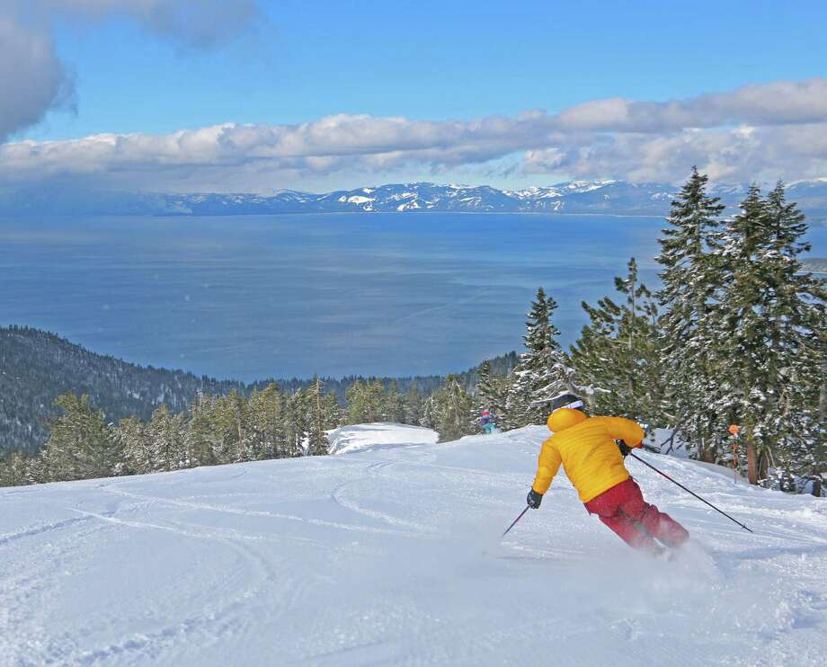 Snow fell Monday night in the Tahoe region, giving skiers half a foot of extra powder to ride on. Photo: Jacyln Ream / Diamond Peak Ski Resort / /