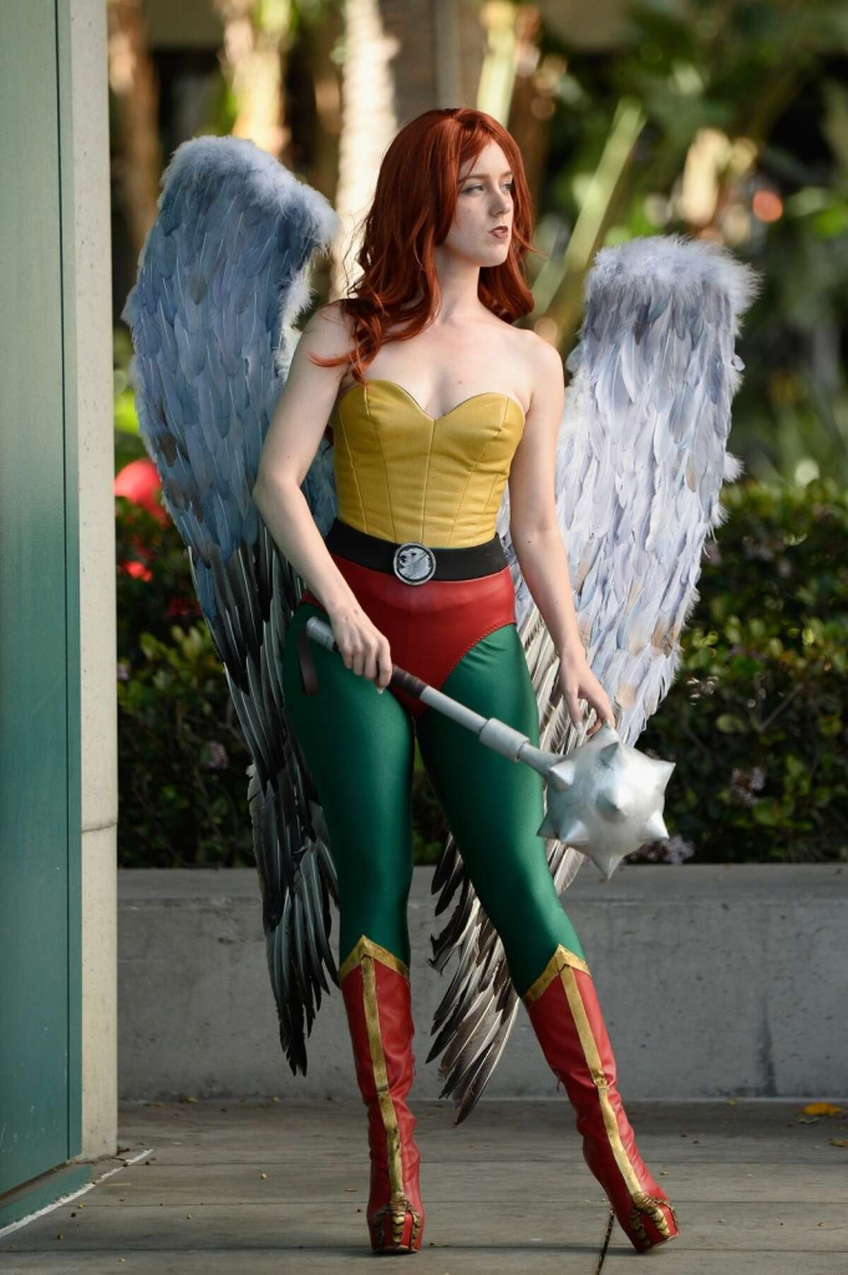 When you do things right, there is a happy balance between costume accuracy and sex appeal, like this Hawkwoman...