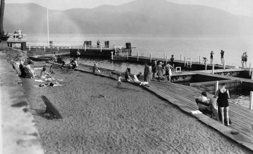 Beach at Sagamore Hotel on Lake George, 1934, in Bolton Landing N.Y. (Times Union archive)