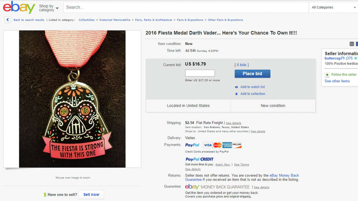 THE FIESTA IS STRONG WITH THIS ONE Bidding at $16.79