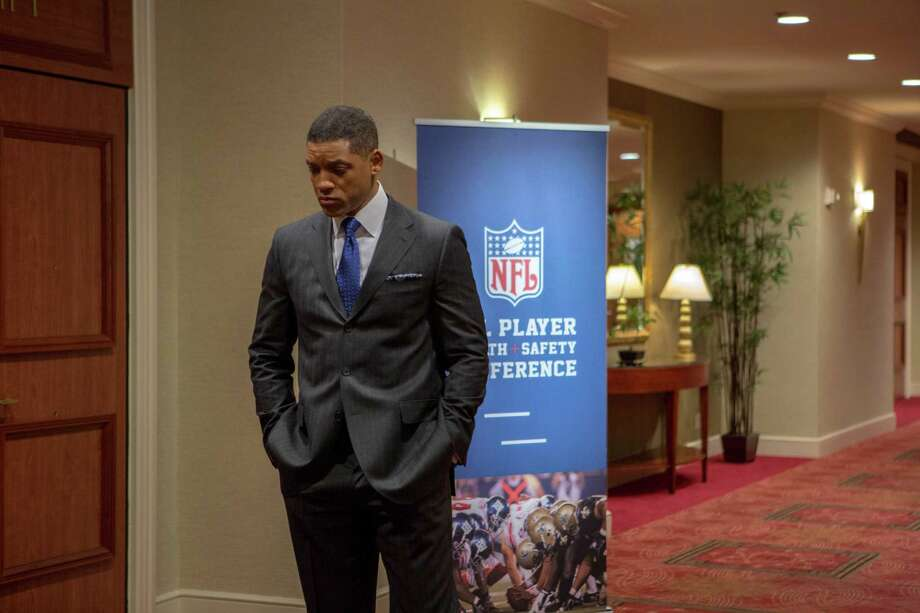 "This photo provided by Columbia Pictures shows, Will Smith as Dr. Bennet Omalu, in a scene from Columbia Pictures' ""Concussion."" The movie releases in U.S. theaters on Dec. 25, 2015. (Melinda Sue Gordon/Columbia Pictures via AP) ORG XMIT: CAET901 Photo: Melinda Sue Gordon / Columbia Pictures"