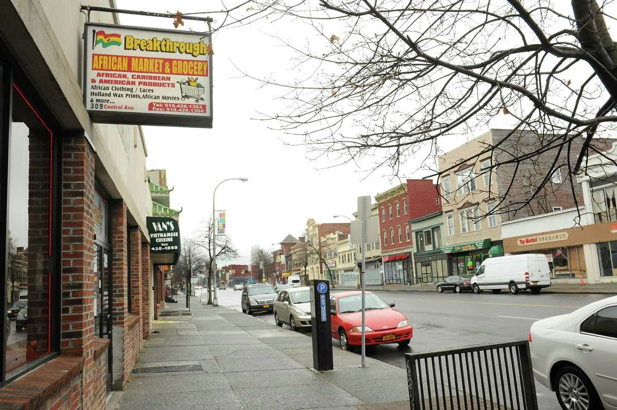 Ethnic restaurants and stores are seen along Central Ave. on Monday, March 28, 2016 in Albany, N.Y. (Lori Van Buren / Times Union)