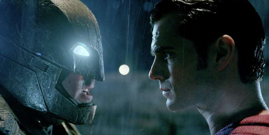 """(L-r) Ben Affleck as Batman and Henry Cavill as Superman in """"Batman v Superman: Dawn of Justice."""" MUST CREDIT: Courtesy of Warner Bros. Pictures Photo: Courtesy Of Warner Bros. Pictures / © 2015 Warner Bros. Entertainment Inc., Ratpac-Dune Entertainment LLC and Ratpac Entertainment, LLC"""