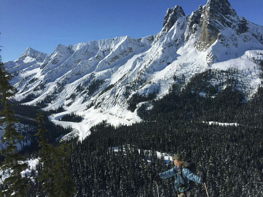 The North Cascades Highway passes beneath Liberty Bell and Early Winters Spire.  Fred Beckey was first to climb Liberty Bell. Photo: Courtesy Washington State Department Of Transportation / 2016 WSDOT