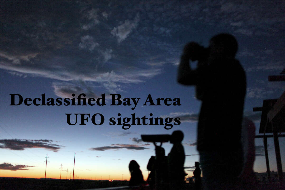 Click ahead to read about some of the Bay Area's UFO sightings, declassified by the government.