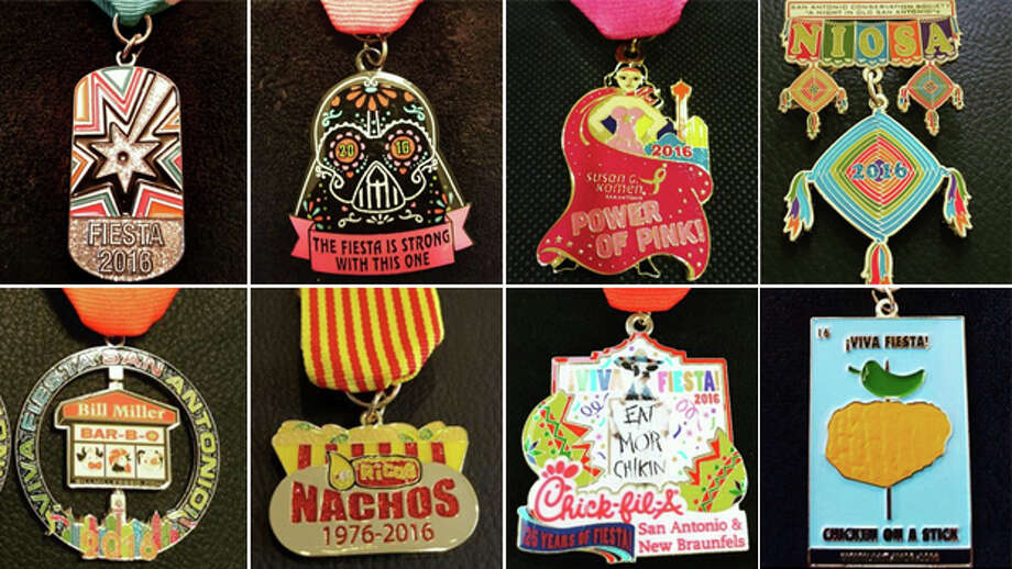 With Fiesta around the corner, 2016 medals are already popping up on eBay. Get a jump on the season with these 20 Fiesta medals you can bid on now. Photo: San Antonio Express-News