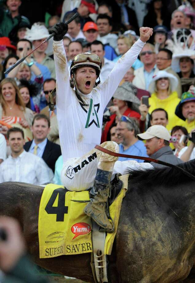 Jockey Calvin Borel wins his third Kentucky Derby in the last four years on Super Saver at Churchill Downs in Louisville, Kentucky May 1, 2010.  (Skip Dickstein / Times Union) Photo: Skip Dickstein / 2008