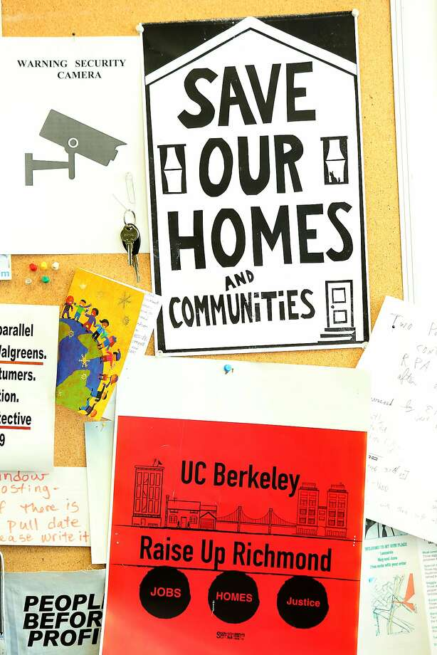 The Richmond Progressive Alliance's flyers last year promote rent control. Photo: Liz Hafalia, The Chronicle