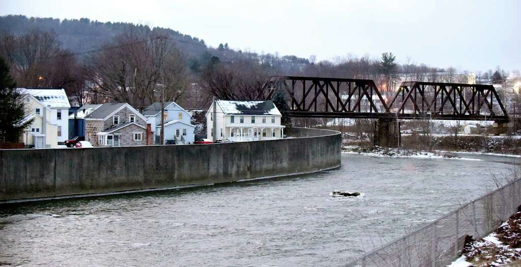 The Hoosic River Flows Through Village Where Pfoa Contamination Is In Water System On