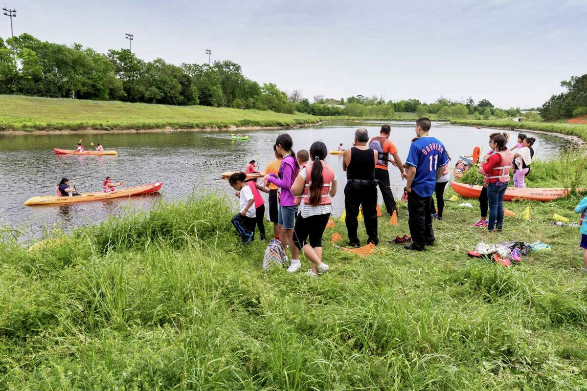 The recent 2016 Bayou Greenway Day officially opening a portion of the White Oak Bayou Greenway, drew about 3,000 people to T.C. Jester Park in Northwest Houston.