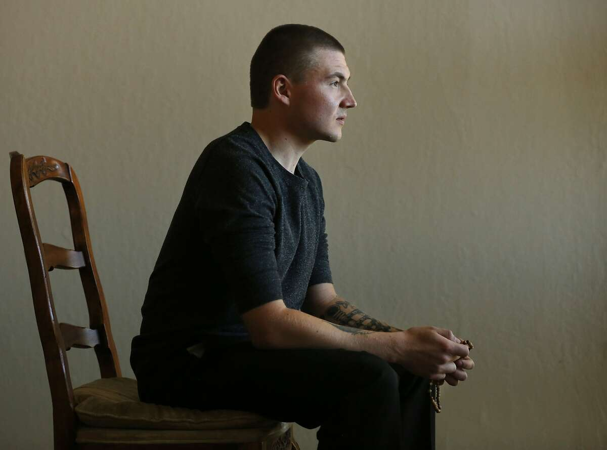 Denis Flynn pictured in his childhood home March 16, 2016 in Los Gatos, Calif. Flynn, who was adopted from Russia at age 9, says he was sexually abused by both of his adoptive parents.