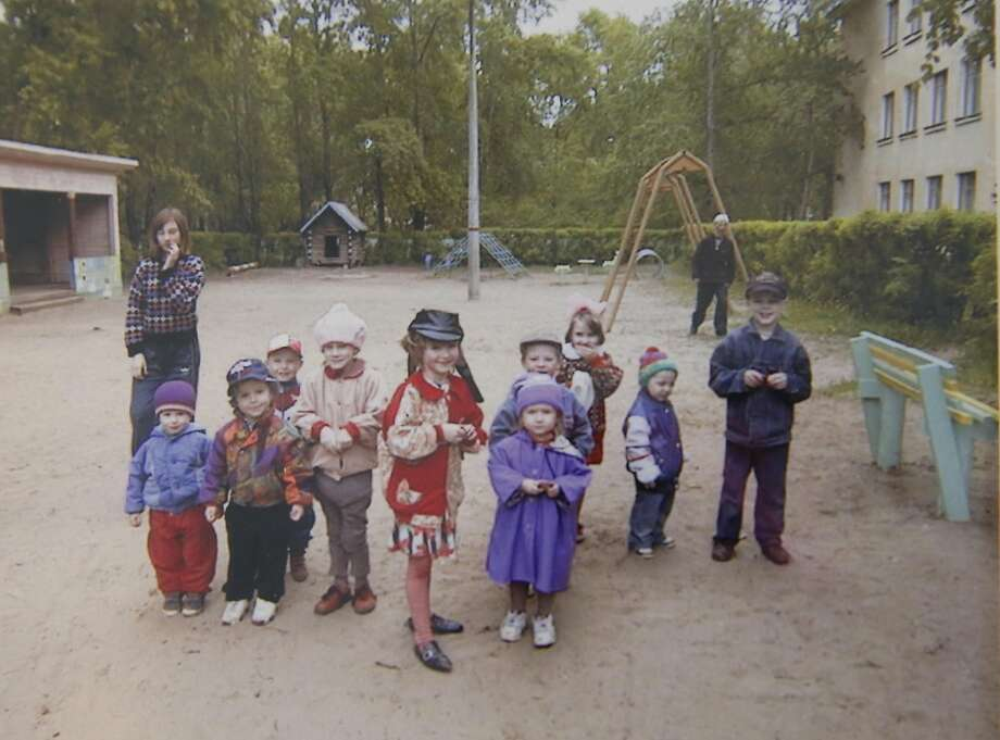 A photograph from the orphanage Denis Flynn was adopted from in Russia. Photo: Leah Millis, The Chronicle