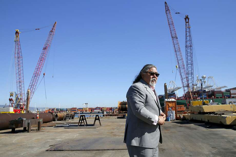 Phil Tagami at the site of a development at the Oakland Army Base in Oakland, California, on Wednesday, Sept. 23, 2015. Photo: Connor Radnovich / The Chronicle