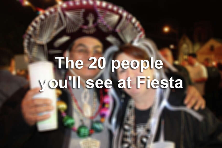 Throughout the 10-day event, you'll want to greet some with open arms and a gordita, but others you'll want to run from. Whatever the case, click through the gallery above to prepare yourself to meet up with your fellow Fiesta-goers. Photo: San Antonio Express-News