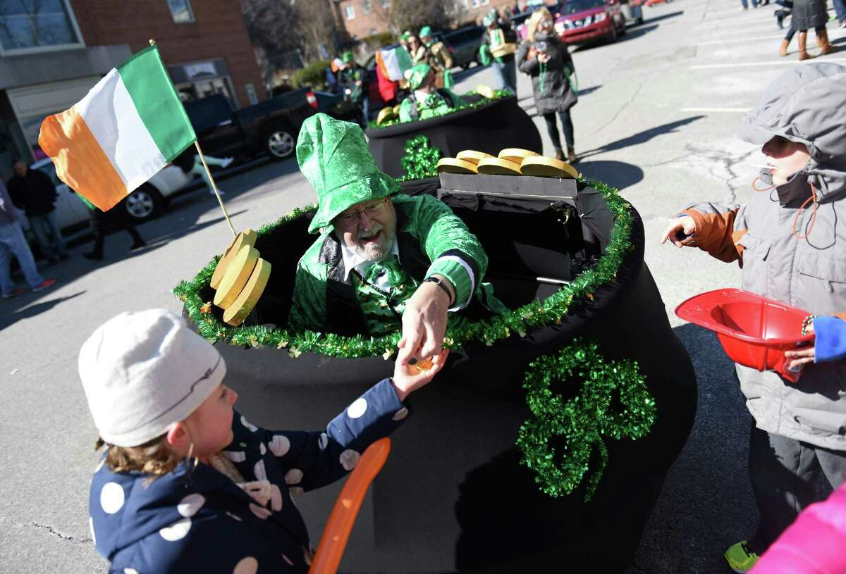 Photos from the annual St. Patrick's Day Parade in Greenwich, Conn. Sunday, March 22, 2015. Running from Town Hall down Greenwich Avenue, the parade featured bands, entertainers, public officials, organizations and local fire and police departments.