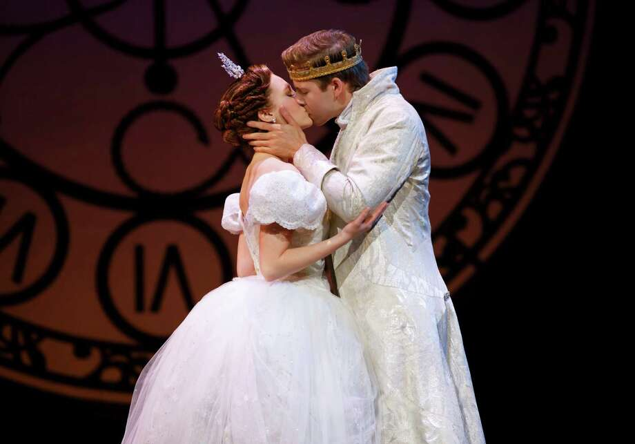 "Kaitlyn Davidson and Andy Huntington play Cinderella and the Prince in the touring production of ""Cinderella"" coming to the Majestic Theatre. Photo: Courtesy Carol Rosegg"