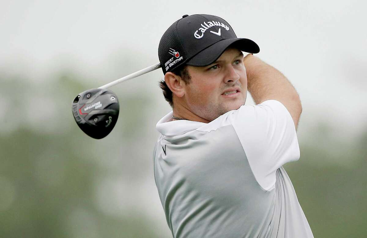 PGA golfer Patrick Reed drives in the Shell Houston Open Grand Pro-AM at the Golf Club of Houston on Wednesday, March 30, 2016 in Humble, TX.