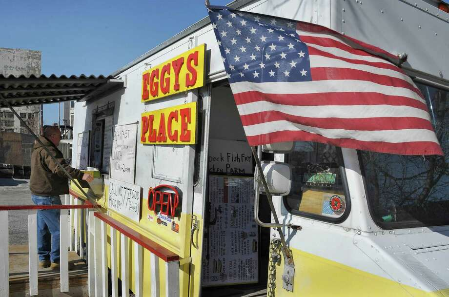 Eggy's Place food truck on Erie Boulevard opens for the season Wednesday March 30, 2016 in Albany, NY.  (John Carl D'Annibale / Times Union) Photo: John Carl D'Annibale / 10036021A