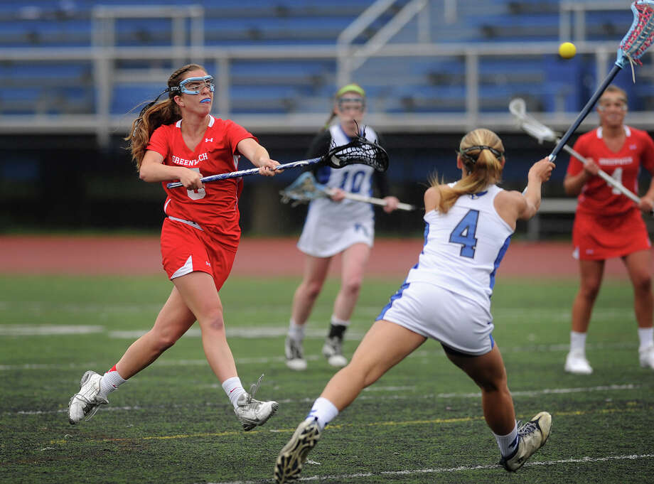 """Greenwich midfielder\quad captain Katie Harford: """"""""Our bench doesn't go as deep as last season, but every single player coming off the bench is solid and contributes a lot."""" Photo: Brian A. Pounds / Brian A. Pounds / Connecticut Post"""