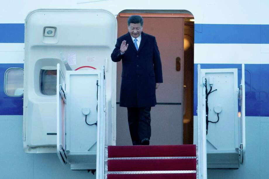 Chinese President Xi Jinping arrives at Joint Base Andrews in Maryland for the Nuclear Security Summit. Photo: Andrew Harnik / Associated Press / AP