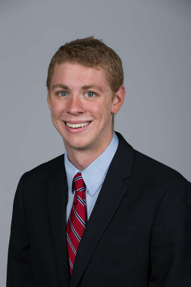 Stanford Men's Swimming head shot of Brock Turner, dated September 18, 2014. Photo: Casey Valentine, Stanfordphoto.com