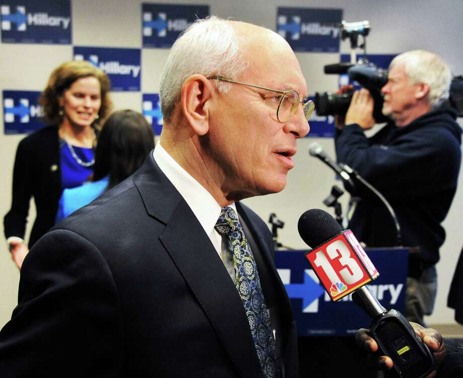 Congressman Paul Tonko speaks with reporters following  a news conference by Capital Region elected officials to endorse Hillary Clinton for president Wednesday March 30, 2016 in Albany, NY. (John Carl D'Annibale / Times Union) Photo: John Carl D'Annibale / 10036030A