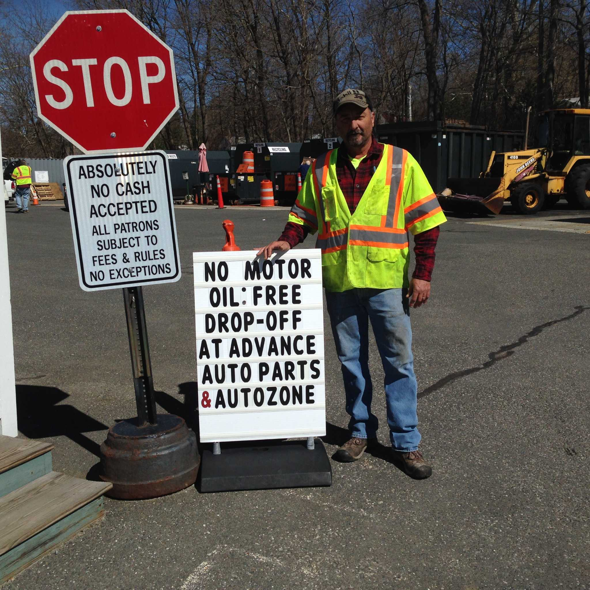 New milford recycling center not taking motor oil newstimes for Motor oil disposal near me