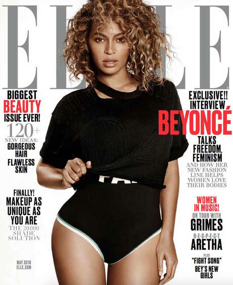 Beyonce on the cover of May's Elle Magazine Photo: Elle Magazine