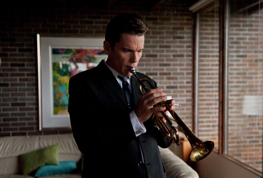 "Jazz legend Chet Baker (Ethan Hawke) goes on a reimagined comeback tour in ""Born to Be Blue."""