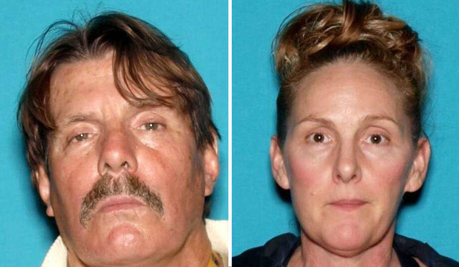 Scott Gilman, 60, pictured left, and Rebecca Fowler, are suspected of stealing two cell phones from a Mountain View Sprint store and trying to run over a witness in the parking lot while they fled.