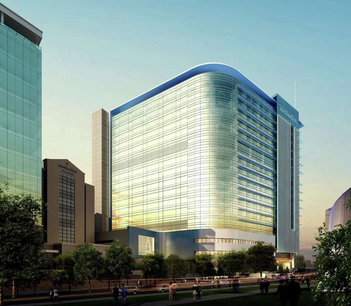 Houston Methodist produced renderings of their new tower in the Texas Medical Center. The $700-million North Tower is expected to be completed by 2017.