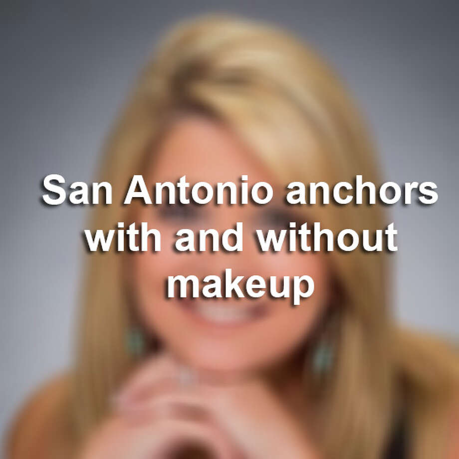 Click through the slideshow to see a collection of photos of San Antonio anchors with and without makeup on.