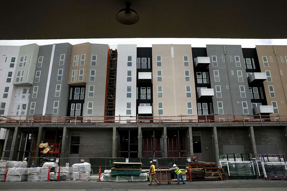 Construction of the Potrero 1010 complex which includes 453 apartment units along 16th street near Mission , is now leasing in San Francisco, California, on Thurs. March 31, 2016 Photo: Michael Macor, The Chronicle