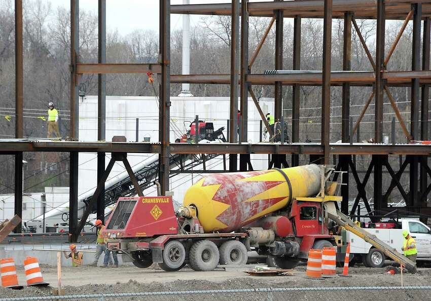 Construction continues on the Rivers Casino & Resort along Erie Blvd. Thursday, March 31, 2016 in Schenectady, N.Y. The casino submitted its $50 million payment for a gaming license today. (Lori Van Buren / Times Union)