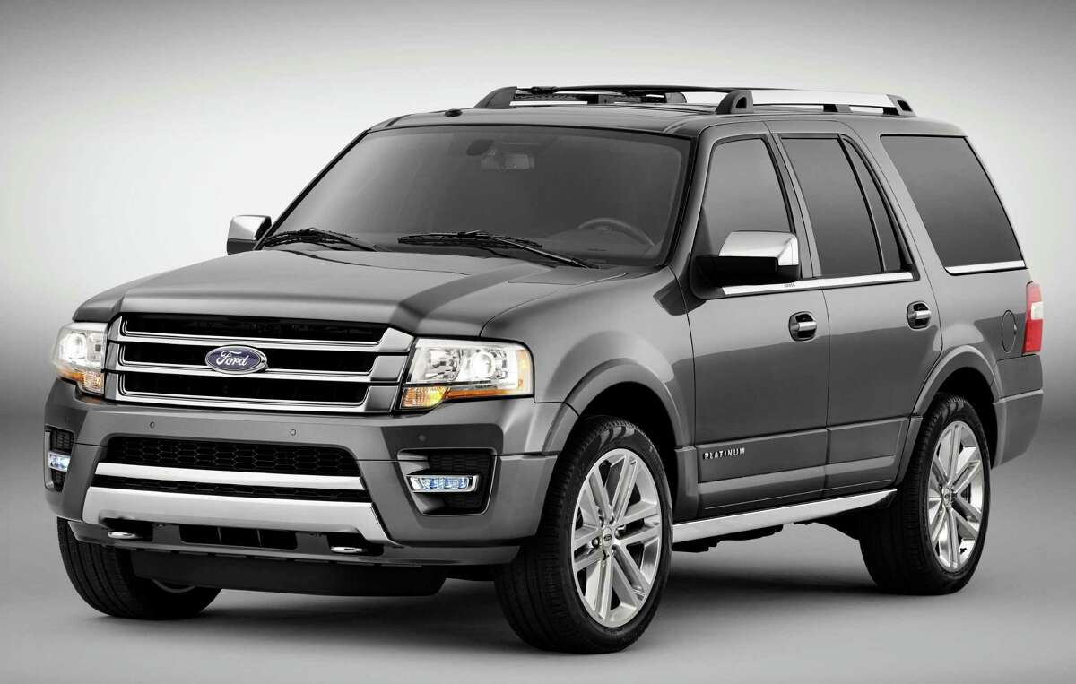 The Ford Expedition full-size sport utility features a 3.5-liter EcoBoost V-6 engine. This is the top-of-the line Platinum model, which comes with a long list of standard features, connectivity systems, and safety technology.