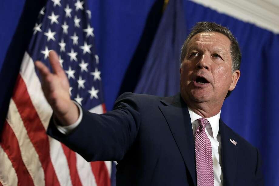 "John Kasich says presidents ""don't get do-overs."" Photo: Richard Drew, AP"