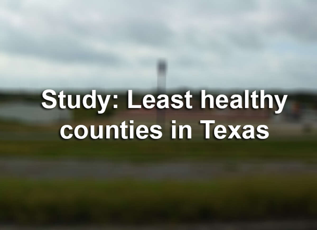 Click through the slideshow to see the 10 least healthy counties in Texas, according to County Health Rankings.