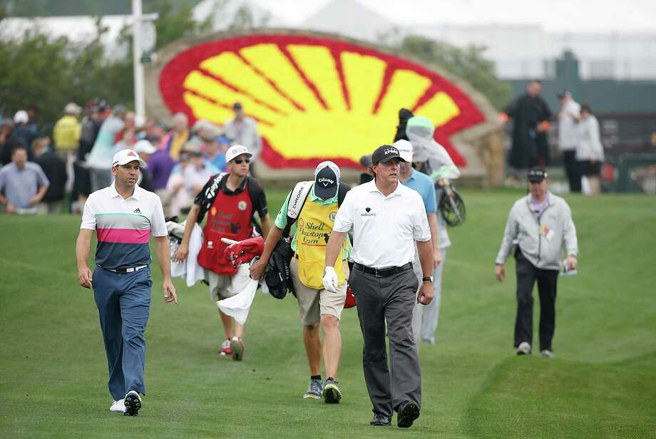 Phil Mickelson walks the 18th fairway in the Shell Houston Open-Round 1 at the Golf Club of Houston on Wednesday, March 31, 2016 in Humble, TX. Photo: For The Chronicle / © 2016Thomas B. Shea