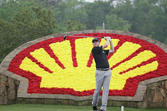 Jimmy Walker drives off of the 18th tee in the Shell Houston Open-Round 1 at the Golf Club of Houston on Wednesday, March 31, 2016 in Humble, TX.