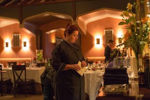 Suzette Gresham, chef, has her photo taken at Acquerello in San Francisco Calif., Tuesday March 24, 2015.