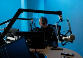Ronn Owens speaks on his morning show in the KGO studio March 31, 2016 in San Francisco, Calif. Owens announced that after 40 years at KGO-AM, on April 4 he will be moving to the afternoon spot on KSFO Hot Talk radio, 560 AM.