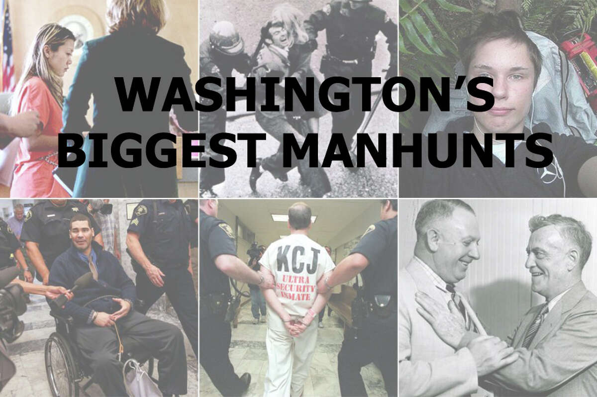 Click through the gallery for a look at 30 of Washington's most notable manhunts.