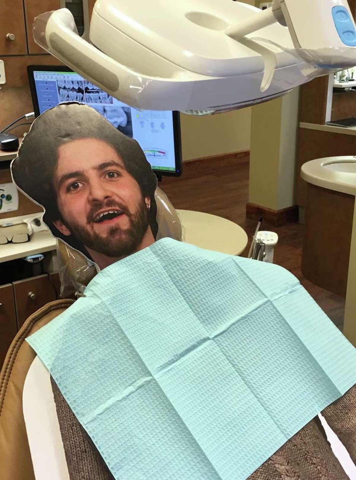 Flat Dalton at the dentist.
