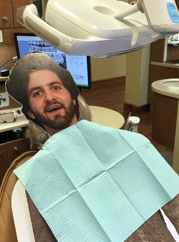 Flat Dalton at the dentist.  Photo: Provided By Dalton Ross