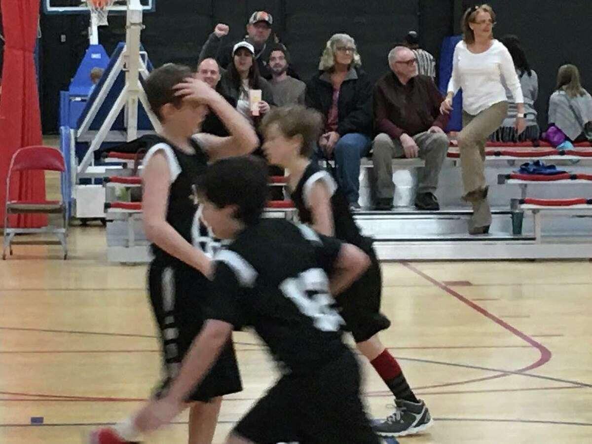 Flat Dalton cheering on the home team.