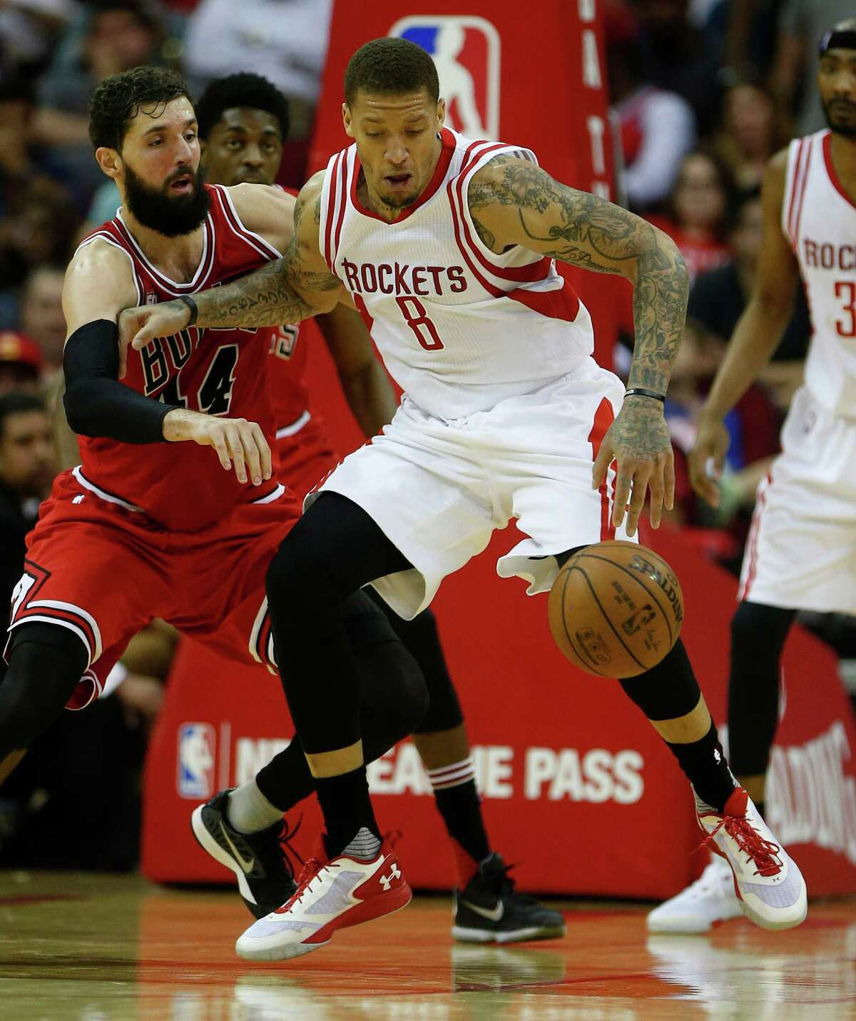 Michael Beasley (8) and his Rockets teammates were finally able to get in a full practice Saturday, something they hadn't done in weeks.