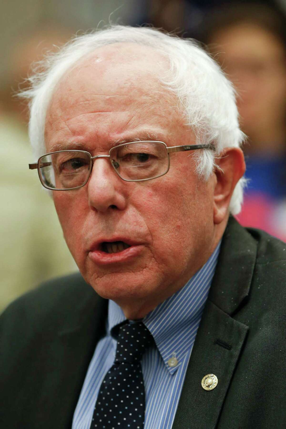 Democratic presidential candidate, Sen. Bernie Sanders, I-Vt. speaks at a news conference with local union leaders before a campaign stop, Thursday, March 31, 2016, in Pittsburgh. (AP Photo/Keith Srakocic) ORG XMIT: PAKS116