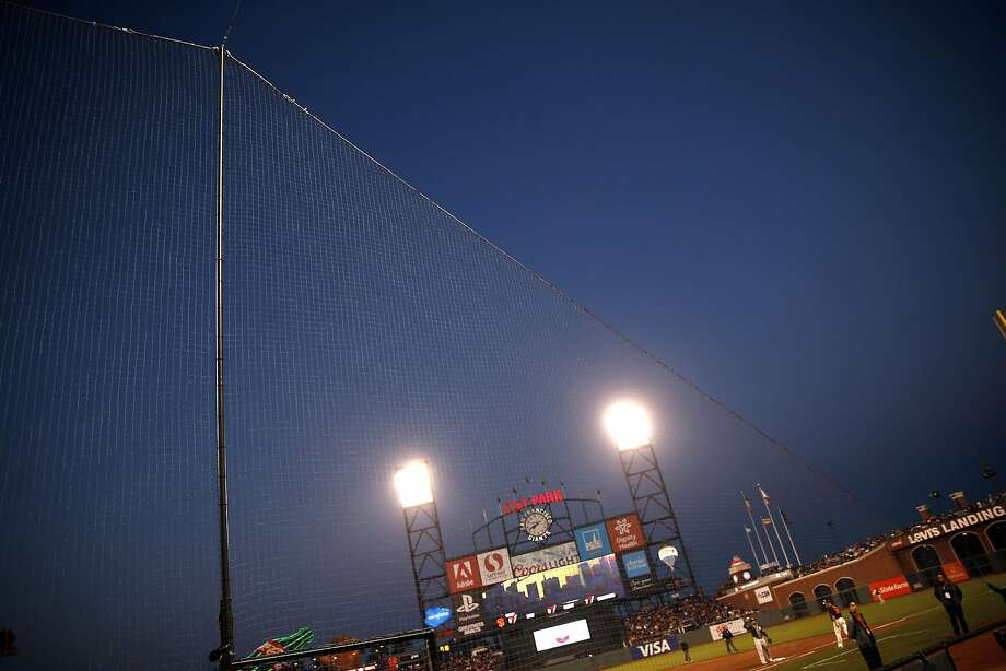 New netting at AT&T Park as San Francisco Giants play the Oakland A's in the Bay Bridge Series at AT&T Park in San Francisco, Calif., on Thursday, March 31, 2016. Photo: Scott Strazzante, The Chronicle