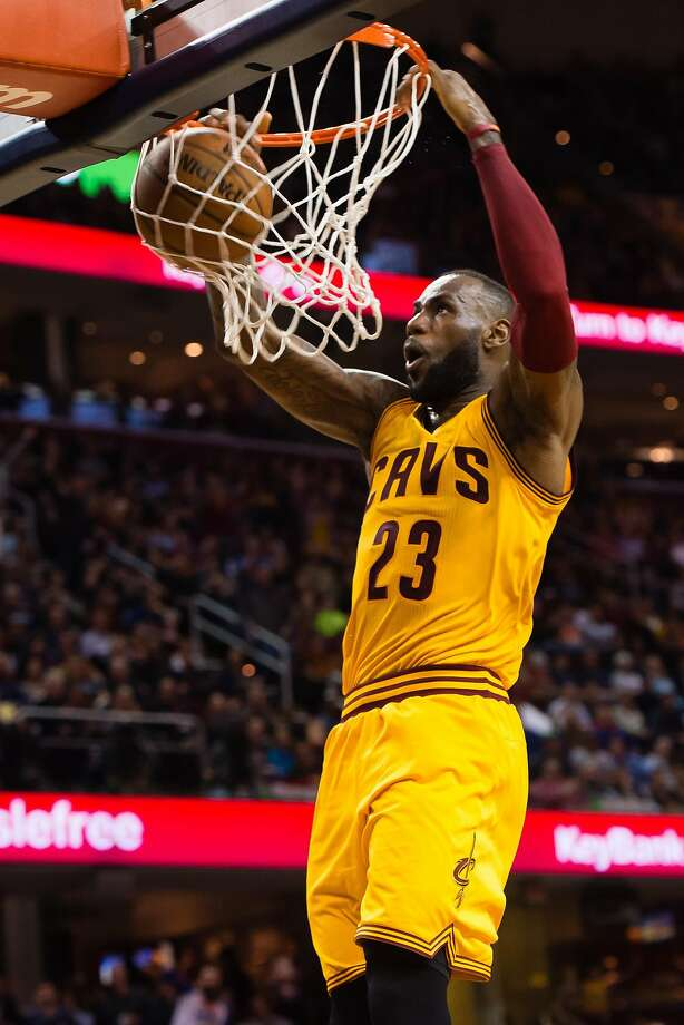 LeBron James had 24 points and passed Dominique Wilkins for 12th place on the NBA's all-time scoring list. Photo: Jason Miller, Getty Images